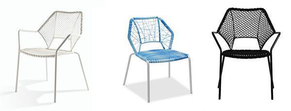 Sedie impialbili per esterni Knit Knot Chair di Alessandra Pasetti by MSL Interiors