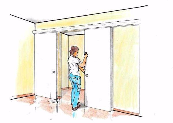 Porte scorrevoli in legno: come fissarle in fai da te