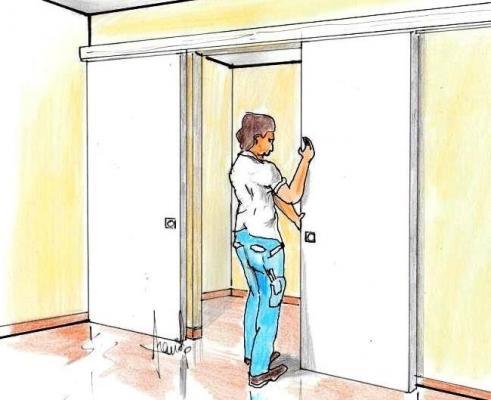Porte scorrevoli in legno: fase installazione fai da te