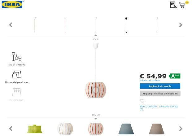 Lampada sospensione personalizzata Ikea