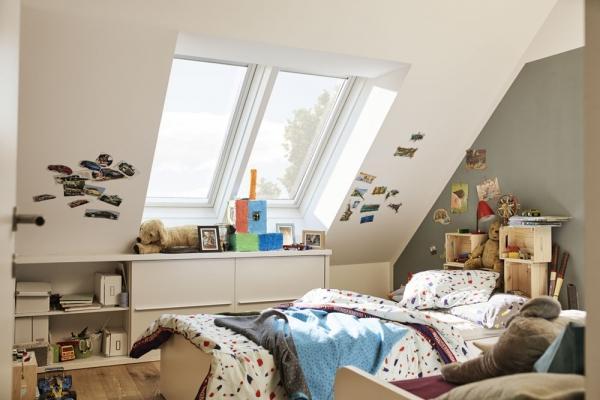 Finestre per tetti VELUX in mansarda
