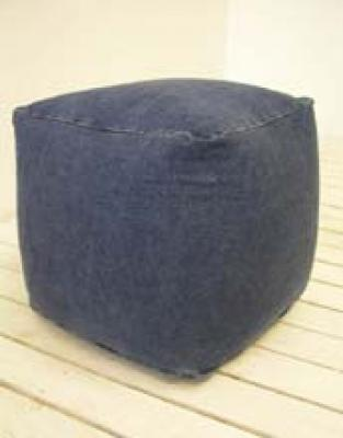 Pouf in denim stile Grunge di Inthema.it