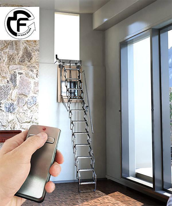 Scala per soffitta motorizzata con telecomando FGM