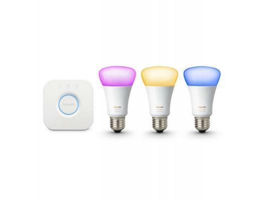Sistema comando luci intelligente Philips Hue white and color ambiance starter kit E27