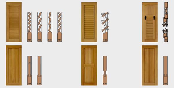 Scuri e persiane in legno TIP TOP di Elicona