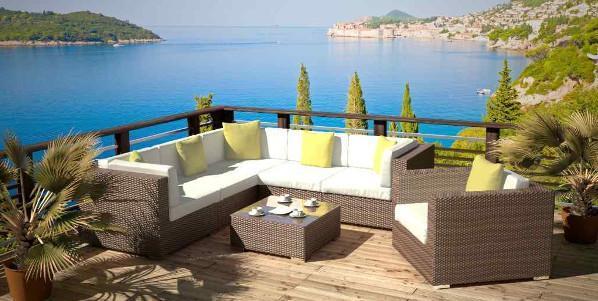 Set da giardino con divano Epona di Artelia