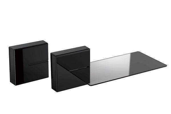 Televisori: come posizionare la tv con Ghost Cubes nero Meliconi