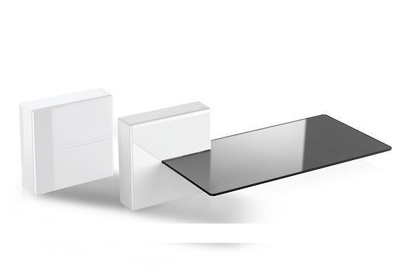 Porta tv a parete Ghost Cubes bianco di Meliconi