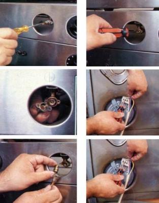 riparare una cucina a gas i rubinetti