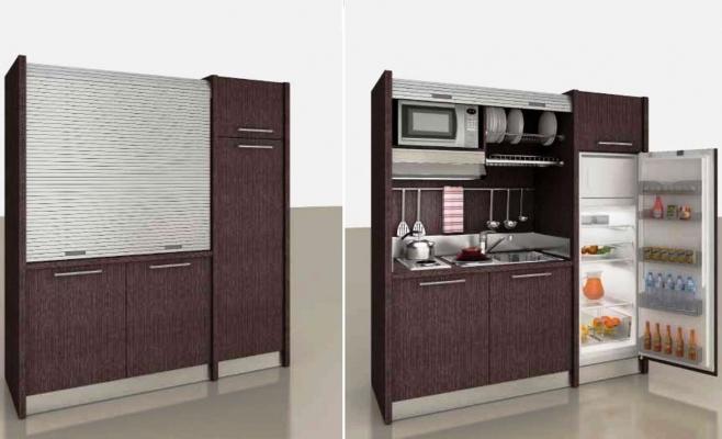 Cucina serrandina Mobilspazio, ideale per l'arredo di monolocali