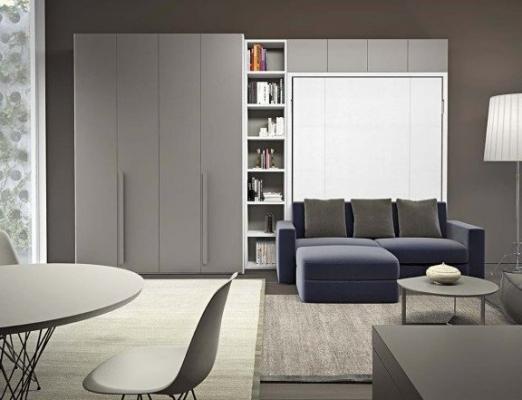 Parete attrezzata dynamic Clever, soluzione trasformabile per miniappartamenti