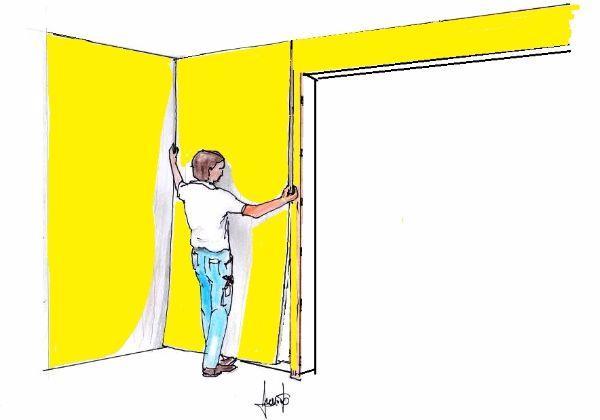 Rivestire le pareti fai da te con stoffa, applicata su pannelli
