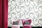 Rivestire parete con tessuto Dedar Brio Bianco Nero