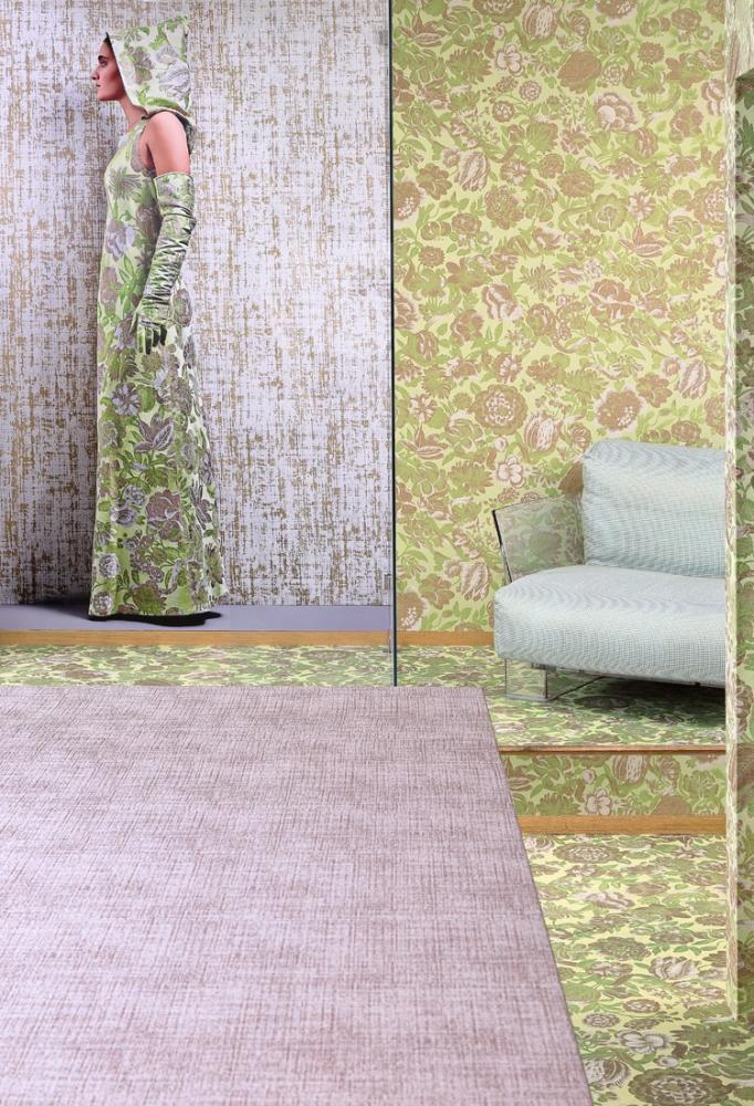 Rivestimenti per pareti con tessuti variegati, by Rubelli