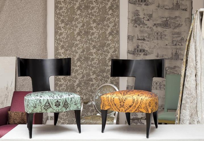 Rivestimenti per pareti con tessuti decorativi, by Rubelli