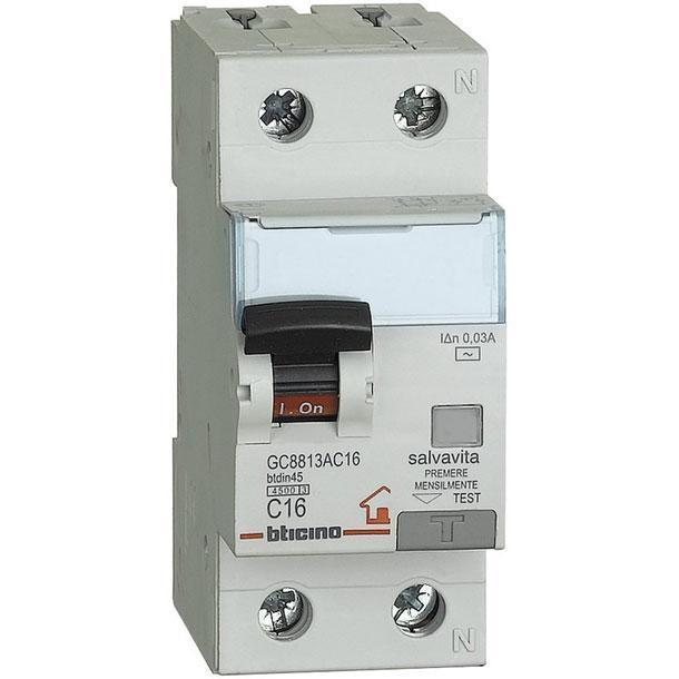 Interruttore magnetotermico differenziale bticino