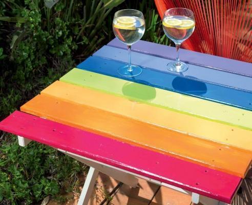 Riciclo creativo: tavolo da giardino di Riciclocreativo