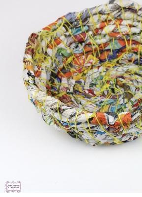 Riciclo creativo: cestino di Pane Amore&Creatività