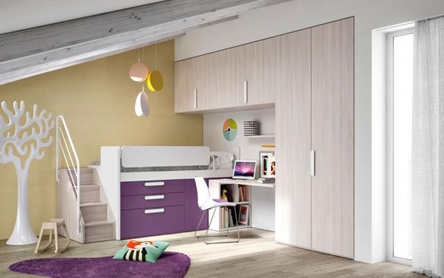 Cameretta doppia in mansarda soluzione progettuale - Camera da letto sottotetto ...