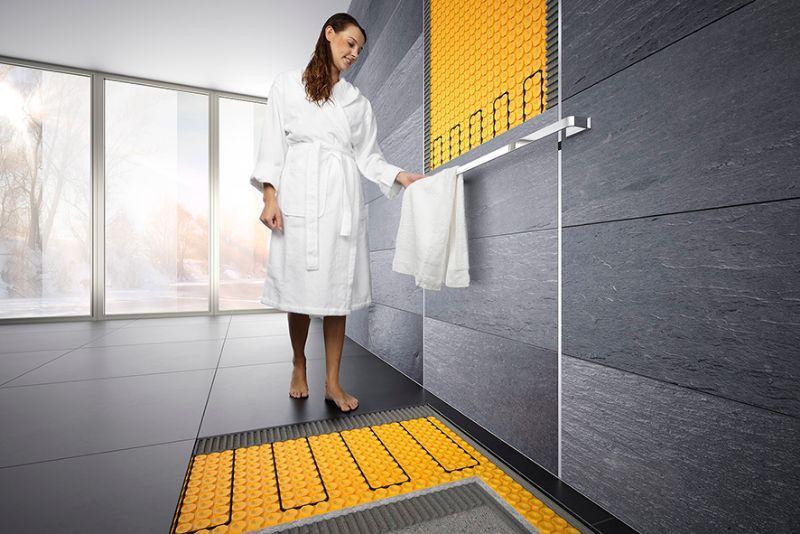 Sistema Schluter per doccia filo pavimento