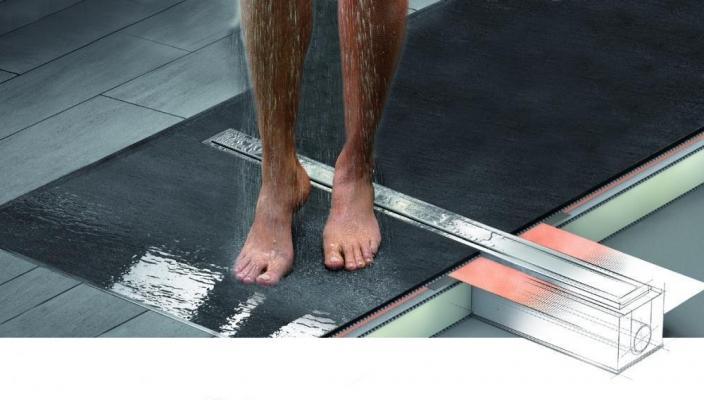 Doccia a filo pavimento scarico lineare