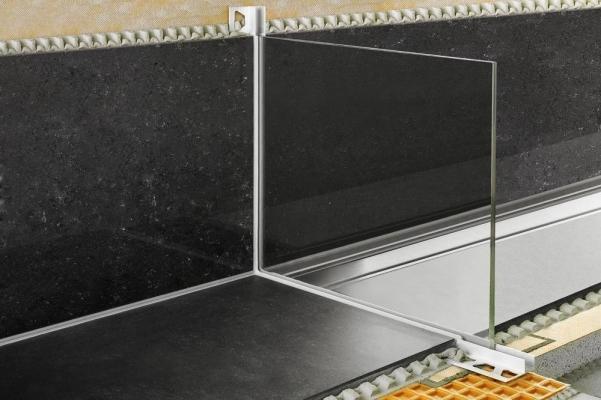 Profilo per alloggiamento parete in vetro schlüter-deco-sg