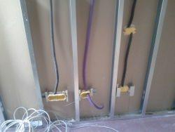Impianto elettrico su lastre in cartongesso