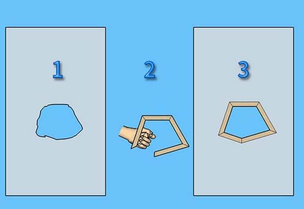Fasi delimitazione sagoma con cartoncino