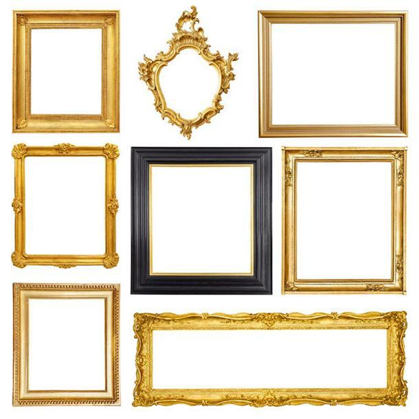 Restauro di cornici: esempi di cornici dorate