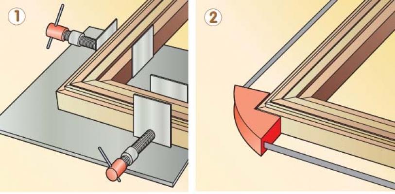 Creare cornici: utilizzo dei morsetti angolari
