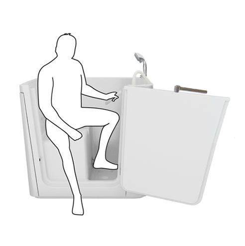 La seduta a vista consente di sedersi ed alzarsi in modo comodo e sicuro