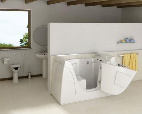 Vasche per disabili e anziani - Piccola vasca da bagno ...