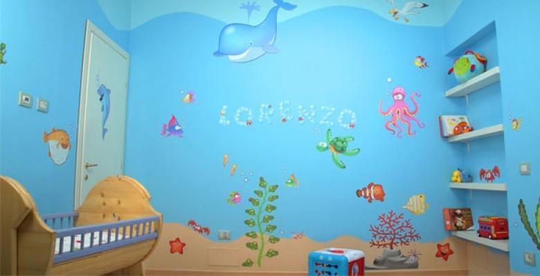 Verniciatura Cameretta : Decorare le pareti di una cameretta bambini