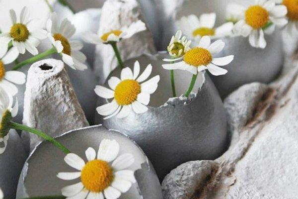 Decorazioni di Pasqua con le uova di Celine