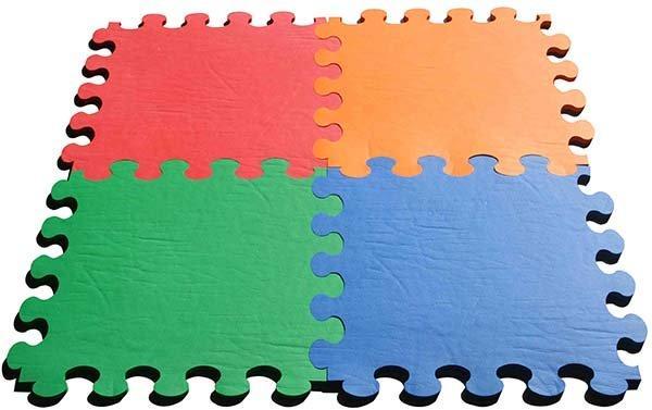 Tappeto gomma puzzle per bambini