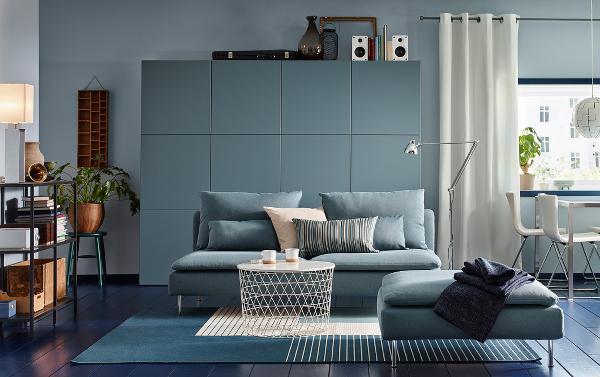 Home relooking in soggiorno con i mobili Ikea - stile moderno