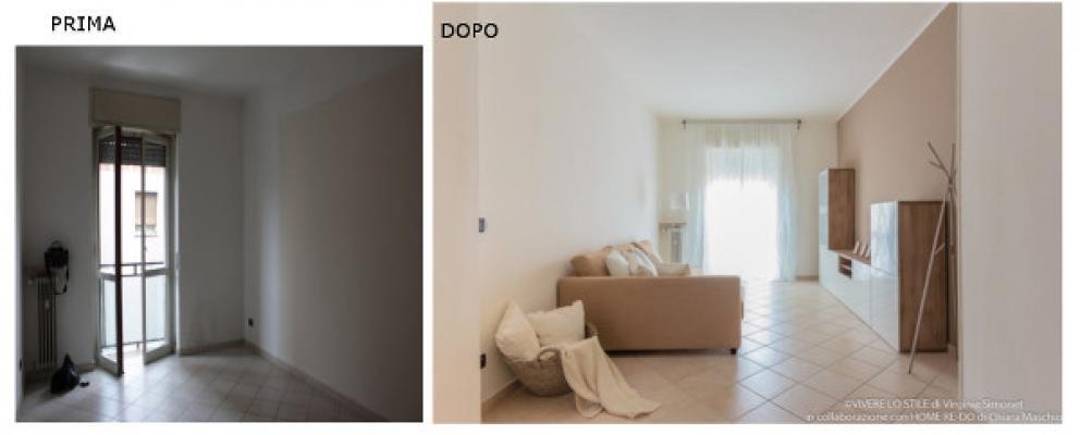 Progetto di home relooking - prima e dopo