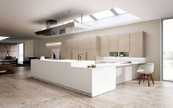 Foto - Cucina aperta sul salone: progetto
