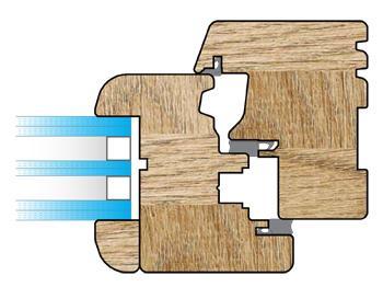 Profilo serramento Fas 92x78 mm