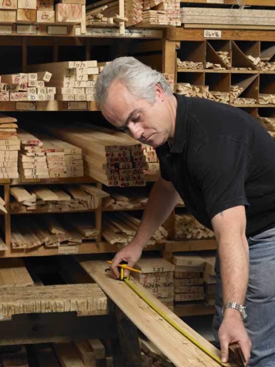 Lavorazione del legno lamellare