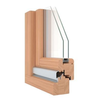 Sezione serramento in legno Europa68 Pavanello