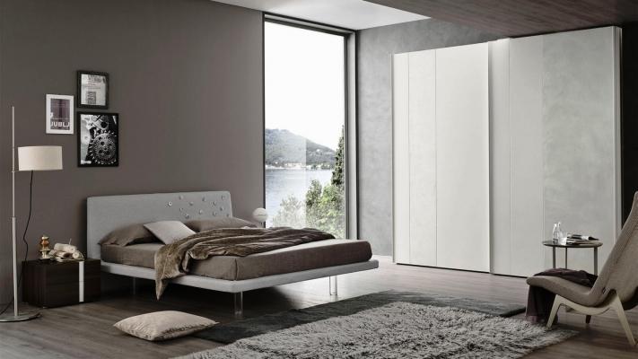 Camera da letto Ariel Orme con armadio in nicchia