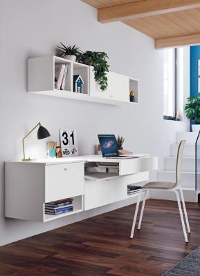 Zona studio multitasking per cameretta: ambientazione Faer