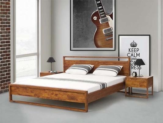 Letti matrimoniali moderni online - Rehausseur pieds de lit en bois ...