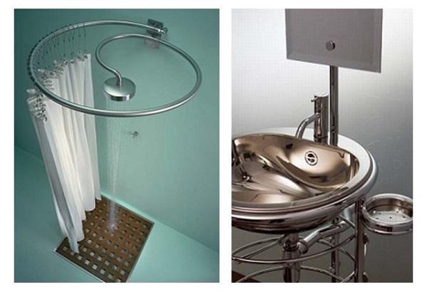 Rifare il bagno: elementi d'arredo Rapsel, Pluviae e Lola Herzburg