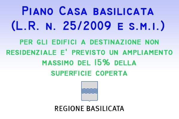 Piano casa Basilicata ampliamento
