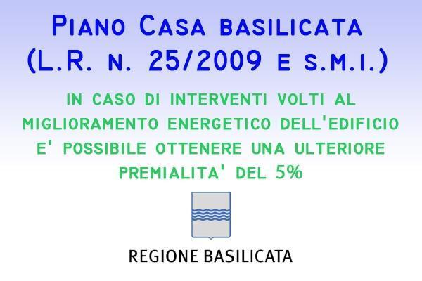 Piano Casa Basilicata premialità