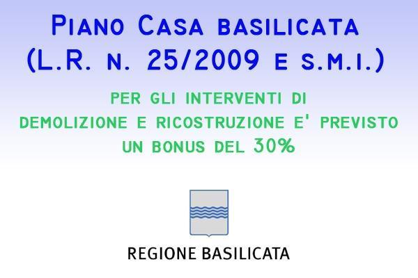 Piano Casa Basilicata demolizione