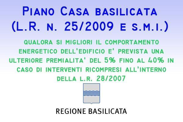 Piano Casa Basilicata bonus