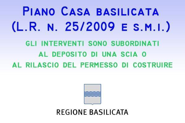 Piano Casa Basilicata iter